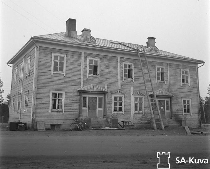 Sodankylän kirjasto. Sodankylä 17.9.1944.